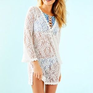 Lilly Pulitzer White Patrice Swim Coverup, XS